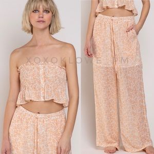 Tropical Vacay Ditzy Floral 2 Piece Matching Set
